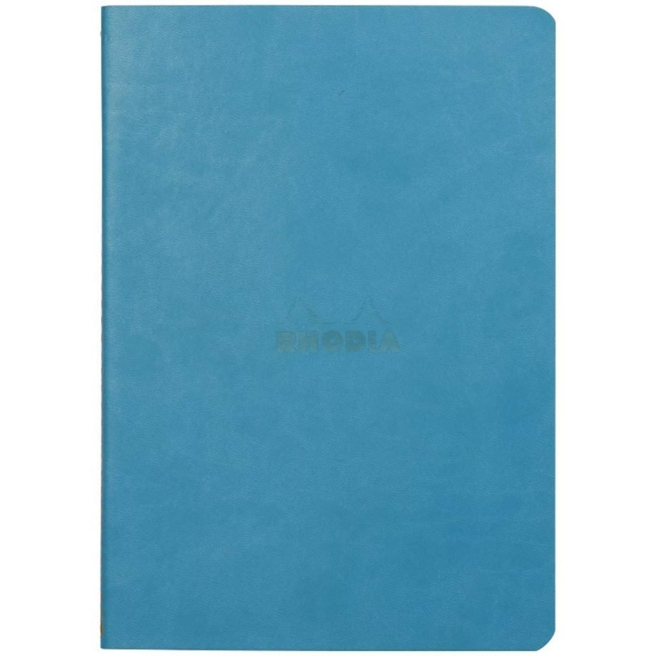 Rhodia Rhodiarama Sewn Spine Notebook, Turquoise Cover